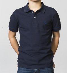 BOYS - EQIP logo polo - navy. For boys who also like to show their passion for the sport off the field.