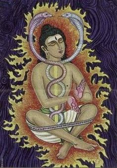 The Sanskrit word Kundalini means 'serpentine'. The serpentine Kundalini is the female energy that exists in a latent form. Not only in every human being but in every atom of the universe. What happens is that this energy can stay dormant in the individual throughout his life. The goal of Tantric practice of Kundalini-yoga is to awaken this cosmic energy and unify it with Siva, the Pure Consciousness pervasive throughout the universe.