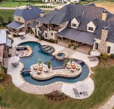 Backyard Pool Designs, Swimming Pools Backyard, Dream House Exterior, Dream House Plans, Dream Home Design, My Dream Home, Dream Mansion, Luxury Pools, Luxury Homes Dream Houses