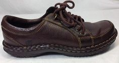 Born Oxford 6.5 Womens Elva Leather Causal Lace Up Dark Brown Rare