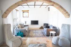 Woonkamer van ons vakantiehuis in Le Marche, Italie | Villa Fiore