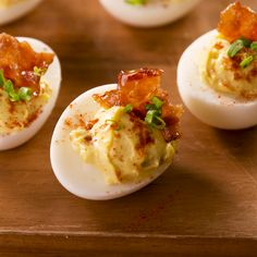 Master classic deviled eggs once and for all with this easy recipe. Plus, here are the best tips for making this simple deviled eggs recipe, so they'll be perfect for your next party. Bacon Recipes, Avocado Recipes, Egg Recipes, Appetizer Recipes, Seafood Appetizers, Recipes Dinner, Paleo Recipes, Bacon Deviled Eggs, Deviled Eggs Recipe