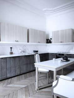 Kitchen in the Paris apartment of Gilles & Boissier. Featured in the November 2012 issue of DPAGES