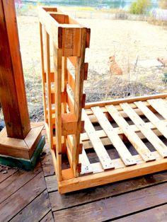 Pallet Firewood Storage