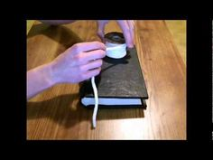 Step by step video tutorial on how to make a leather bound journal or Book of Shadows with the stitch method. Click on the link to see all the videos!