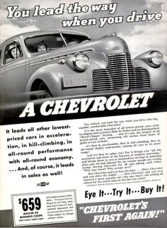 1940 advertisements | old car ads home | old car brochures | old car manual project ...