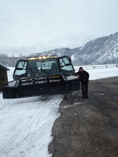 Highway 35 in Utah snowcat machine and operator Joe