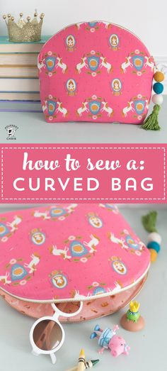 Learn how to sew a makeup bag with this free tutorial. A cute cosmetic bag to sew with a curved top. A large makeup bag. #sewingpatterns #freesewingpatterns #freesewingtutorials #makeupbag #diymakeupbag #diymakeup #makeupbags via @polkadotchair