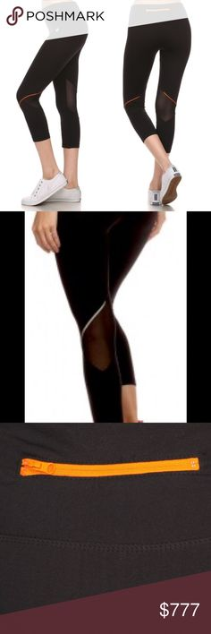 ✨Coming Soon✨ $35 Black/silver Workout Leggings Premium activewear capri leggings with zipper detail. High quality nylon. 92% nylon 8% spandex. I will have black and silver NOT ORANGE. Price is firm unless bundled. No offers $35 Queenstown Boutique Pants Leggings