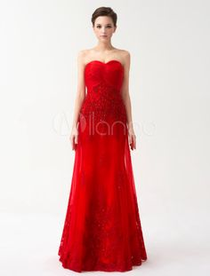 Red Strapless Lace Sleeveless Evening Dress. Get unbeatable discounts up to 70% Off at Milanoo using Coupon & Promo Codes