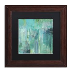 Aqua Circumstance II by Color Bakery Matted Framed Painting Print
