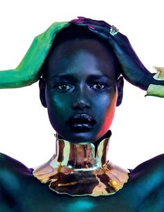 Model Ajak Deng is styled by DaVian Lain in jewels for 'Estrela Cadente'. Photographer Jamie Nelson captures Ajak for the April 2019 issue of Vogue Portugal, dediated to Africa as Star Photography, Portrait Photography, Fashion Photography, Jewelry Photography, Photography Website, Photography Tutorials, Beauty Photography, Editorial Photography, Jewelry Editorial