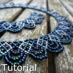Collar abalorios patrón/Tutorial de guirnaldas - descarga inmediata