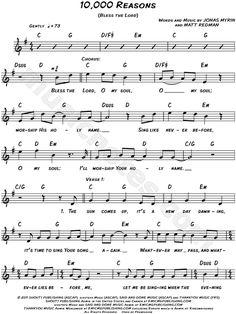 Matt Redman - 10,000 Reasons (Bless the Lord) Sheet Music (Digital Download)