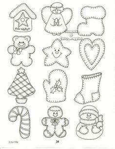 Weihnachtsfiguren: Handschuh, Stiefel, Bär etc.