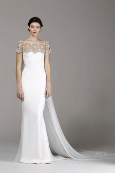 #spring2013 marchesa bridal gown: a striking balance of romance & drama