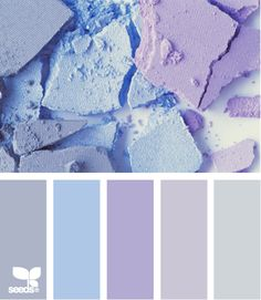 powdered hues--love purple and blue together.  I always gravitate towards it when I think of creating something