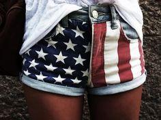 american flag shorts--