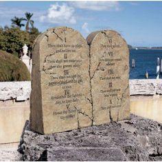 Ten Commandments Sculptural Tablet - DB43010