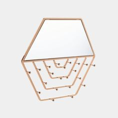 Shop our Hexagon Wall Mirror with Hanging Jewellery Organiser for an elegant way to store, display, and organise your jewellery and accessories. Hanging Jewelry Organizer, Jewelry Hanger, Jewellery Boxes, Jewellery Storage, Dressing Table Storage, Cocktail Glassware, Traditional Mirrors, Jewelry Mirror, Storage Mirror