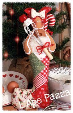 Cartamodelli ginger Natale 2015 : Cartamodello ginger nella calzetta