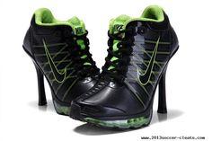 For Wholesale Nike Air Max High Heels Black Green Kobe 9 Shoes, Nike Soccer Shoes, Nike Air Shoes, Baskets, Nike Heels, Cheap Nike Air Max, Black High Heels, Air Jordans, High Top Sneakers