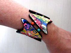 Tendance Bracelets  Bracelet polymer clay. Elastic thread. Unique hand-made.