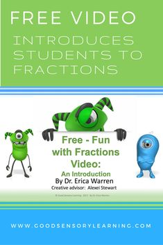 Free video offers elementary students an introduction to fractions.