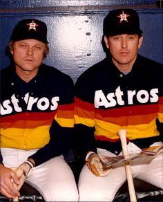Joe Niekro and Nolan Ryan / Houston Astros Texas Baseball, Baseball Park, Baseball Players, Angels Baseball, Pro Baseball, Baseball Stuff, Softball, American Sports, American League