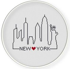 INSTANT DOWNLOAD,Free shippingCounted Cross-Stitch PDF,Friendship gift ,gift for couples,i love new york  ,landmark,landscape,city stitch by danceneedle on Etsy