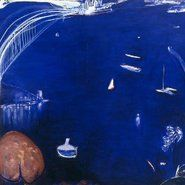 Brett Whiteley - From The Balcony. Genius use of line, color, space, perspective and scale. Australian Painting, Australian Artists, Seascape Art, Abstract Art, Modern Art Artists, Avant Garde Artists, Unusual Art, Aussies, Art For Art Sake