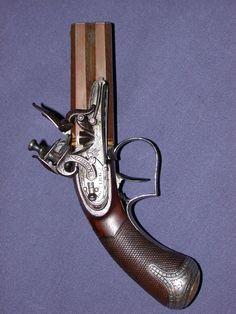 English double barrel pocket pistol