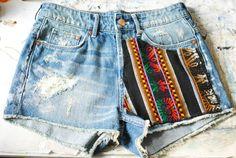 Customização de Short jeans. ~ Opinando Moda