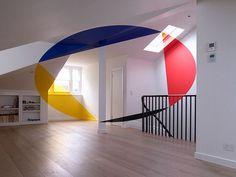 Felice Varini Geometric Illusionary Perspective Paintings