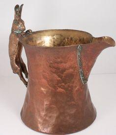 Silver Mounted Copper Rabbit Water Pitcher by WarrenExchange, $399.00