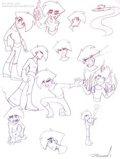 danny phantom sketches | Danny Phantom Doodles by Krossan