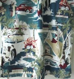 Hawaiian Shirt Vintage WEEKENDER Mens Medium Casino Hibiscus Coupe Car Palms #Weekender #Hawaiian