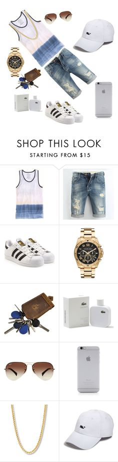 """""""Untitled #8"""" by mariapinho ❤ liked on Polyvore featuring American Eagle Outfitters, adidas Originals, Michael Kors, Lacoste, Ray-Ban, Native Union and Vineyard Vines"""