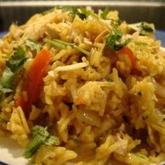 Left Over Chicken - Try Spicy almond pilaff with chicken