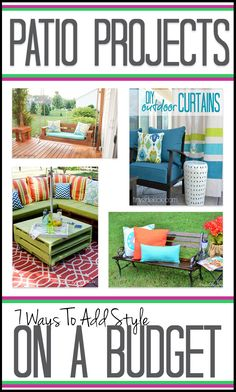 Looking for ideas to spruce up your back patio on a budget? Using everything from pallets to drop clothes, this collection of 7 frugal back porch ideas will help you make the most of your space.