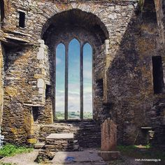 13th century window, Timoleage Friary, Co Cork #ireland_gram #irisharchaeology #loves_ireland #window #wanderlust #cork