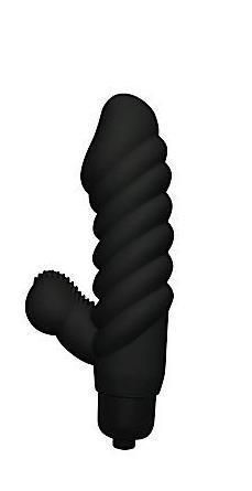 Sinful Ecstasy Black Vibrator with 10 functions. Sleeve is made using 100% Silicone. Features: phthalate free RoHS compliant materials: vibrator sleeve Silicone, bullet vibrator ABS plastic. Insertable length 2.5 inches, shaft diameter 1.25 inches, bullet length 3.25 inches. Vibrating sex toy requires 4 AG13 batteries, included.