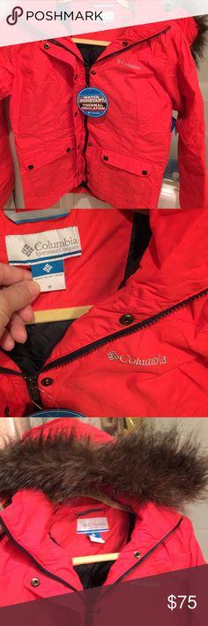 NWT COLUMBIA COAT FUR HOOD M JACKET REBBEL RUMOR NWT Columbia Brand Rebel Rumor jacket coat M, fur hood, fur zips off Columbia Jackets & Coats Puffers