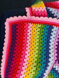 Ravelry: lanib2's Girly granny stripes baby blanket
