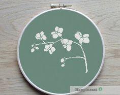 cross stitch pattern orchids modern cross stitch por Happinesst
