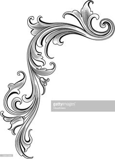 Designed by a hand engraver, this carefully drawn and highly detailed.Designed by a hand engraver, this carefully drawn and highly detailed. Design Elements, Celtic Tatoo, Motif Arabesque, Filigree Tattoo, Schrift Tattoos, Metal Engraving, Carving Designs, Drawing Tips, Vintage Patterns