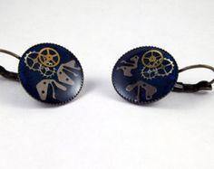 Steampunk Earrings, Watch Earrings, Watch Parts Earrings