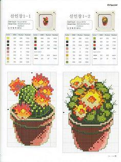 """Résultat de recherche d'images pour """"cactus cross stitch pattern"""""""