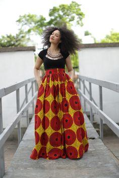 The Orange Record maxi skirt