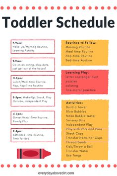 A good toddler schedule and routines will change your life! See the schedule and routine we fo. Toddlers And Preschoolers, Indoor Activities For Toddlers, Toddler Learning Activities, Infant Activities, Montessori Toddler, Easter Activities, Autistic Toddler, Parenting Toddlers, Toddler Fun